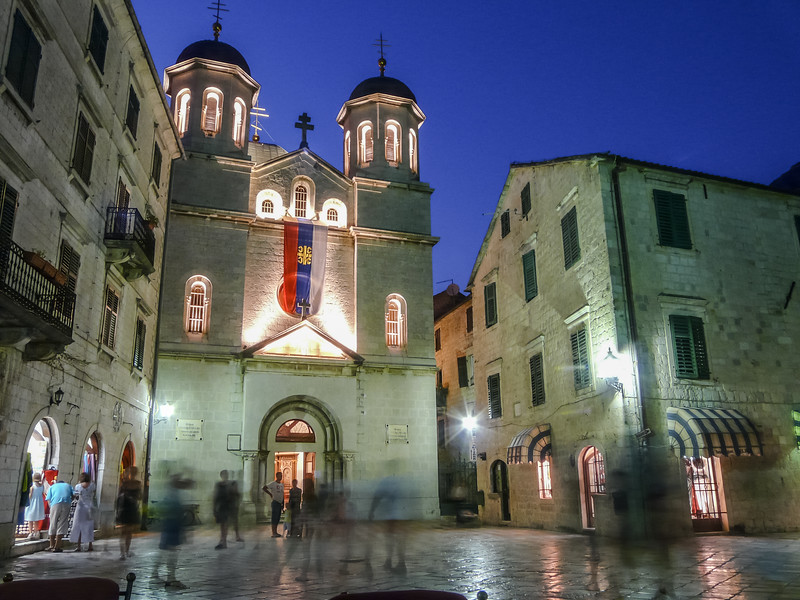 Orthodox Church on St. Lukas Square, Kotor, Montenegro