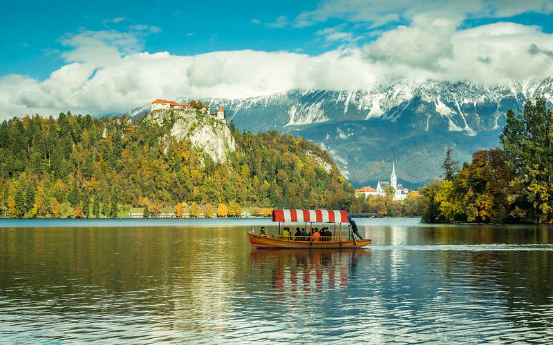 Boatride on the Lake, Bled, Slovenia