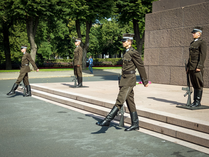 Changing of the Guard, Freedom Monument, Riga
