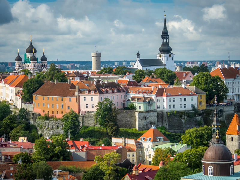 Toompea and Churches, Tallinn, Estonia