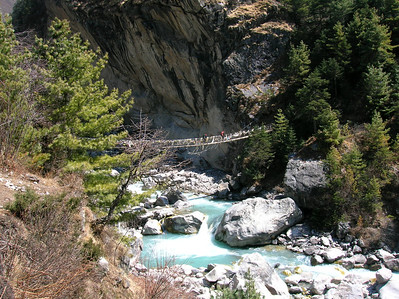 (Photo courtesy of Ian) - river crossing below Thyangboche monastery