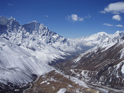 (Taken by me, photo courtesy of Paul) View from summit above Dingboche looking South