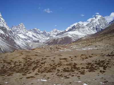(Photo courtesy of Paul) View across the plain above Dingboche