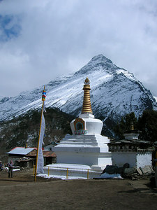Photo courtesy of Ian - Stupa at Thyangboche Monastery