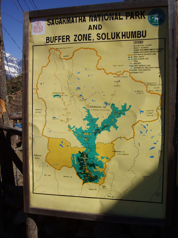 (Photo courtesy of Paul) Map of Sagarmatha National Park