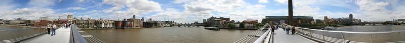 millenium bridge london panorama