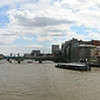 millenium bridge london panorama