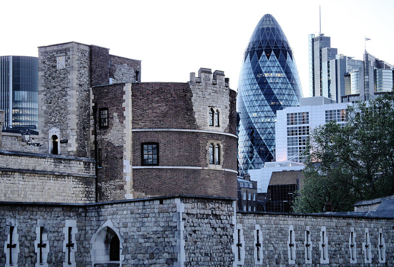 Tower of London and the Gherkin