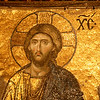 Mosaic of Jesus in Hagia Sophia, Istanbul, Turkey