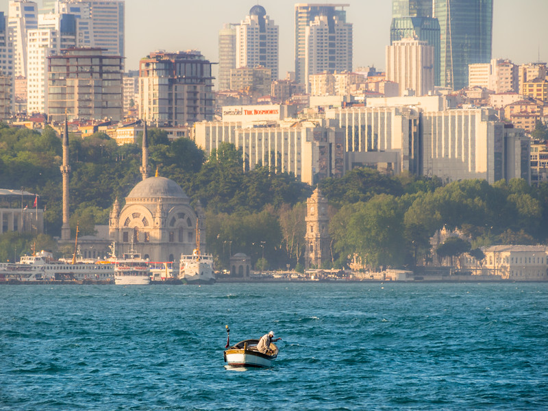 The Old Man and the Bosporus, Istanbul, Turkey