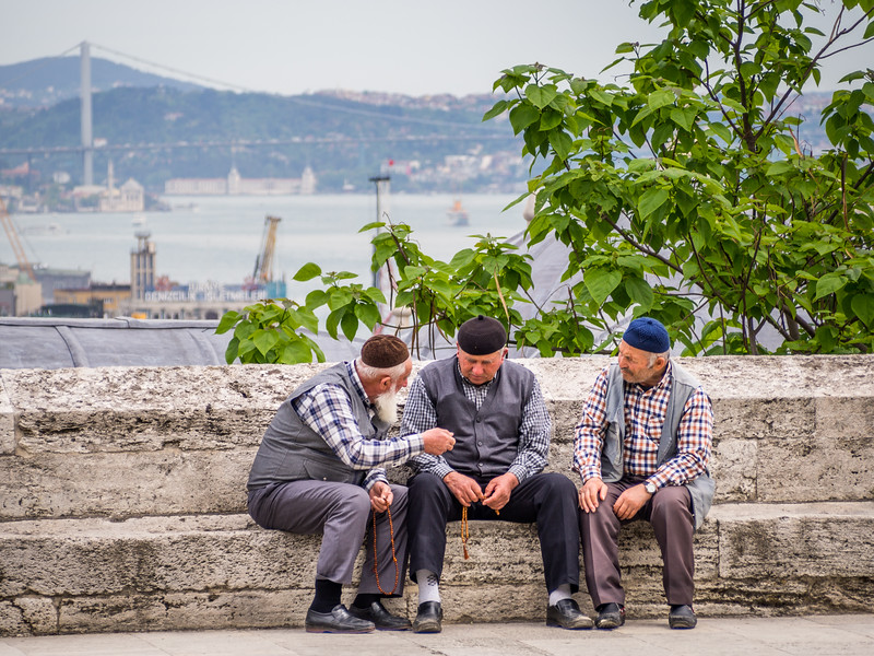 Three Old Men, Istanbul, Turkey