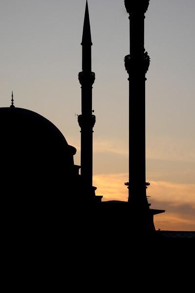 Sunset on a Neighborhood Mosque, Istanbul, Turkey