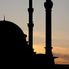 Sunset on a Neighborhood Mosque, Istanbul, Turkey