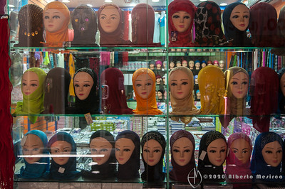 hijab store in the Deira souk in Dubai