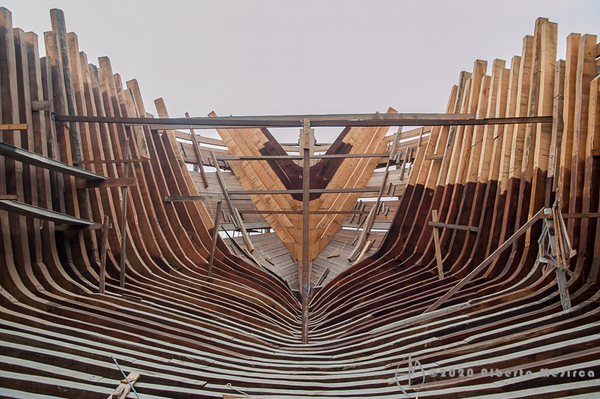 wooden boat ribs #1