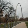 USA - St Louis - the Gateway arch.