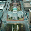 USA - St Louis - view of the court house from the Arch.