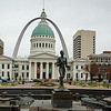 St Louis, USA - The Gateway arch and courthouse