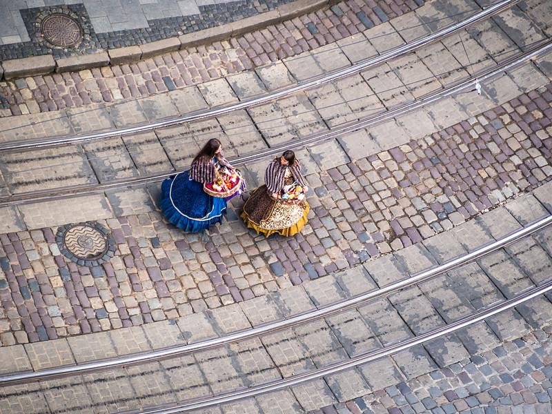 Flower Girls on the Main Square, Lviv, Ukraine