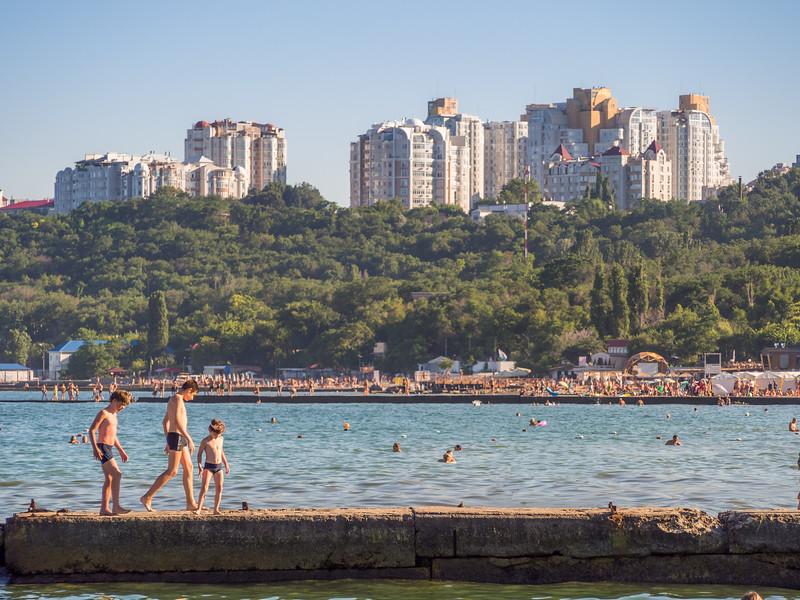 Summer Swim in the Black Sea, Odessa, Ukraine