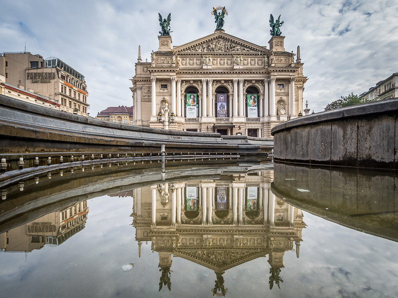 The Opera House of Lviv, Ukraine