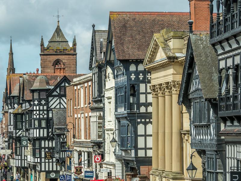 Eclectic Chester Façades, England