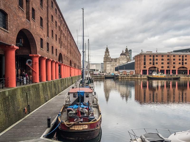 On the Albert Docks, Liverpool, England