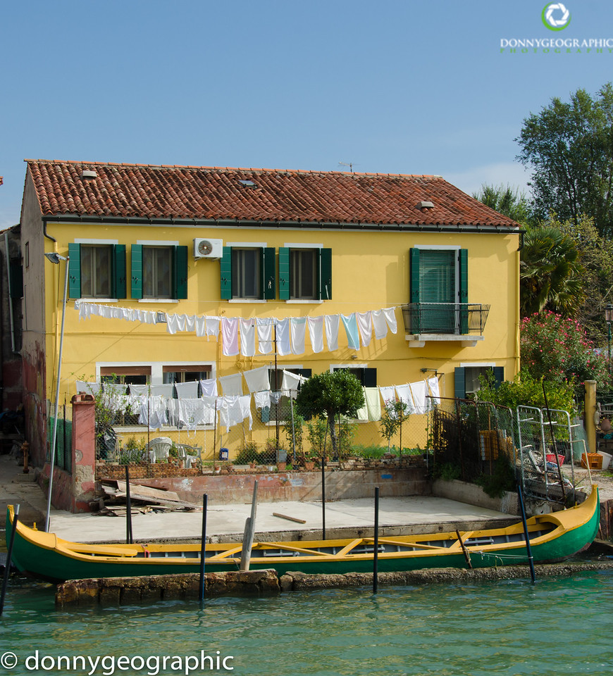 A house and canoe