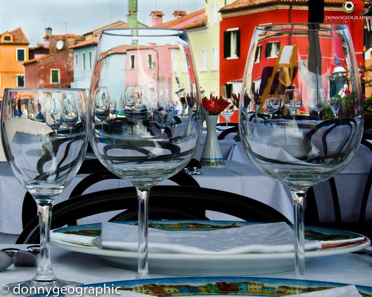 Looking thru the wine glass