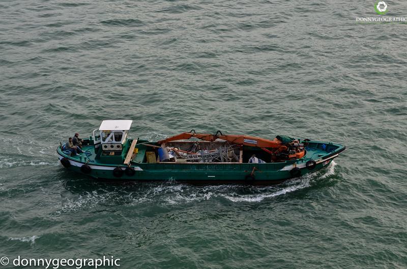 A Venice work boat