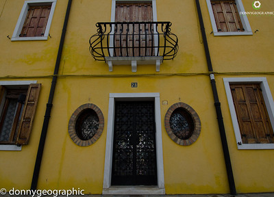 The yellow home