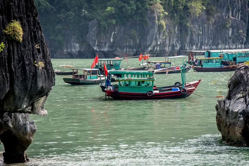 Fishing in Halong Bay