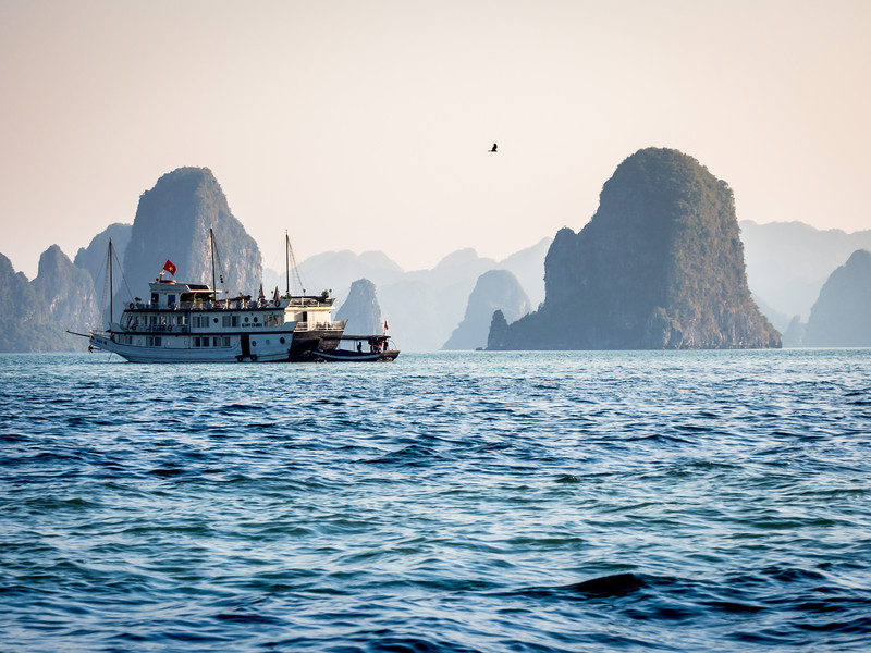 White Afternoon on Ha Long Bay, Vietnam