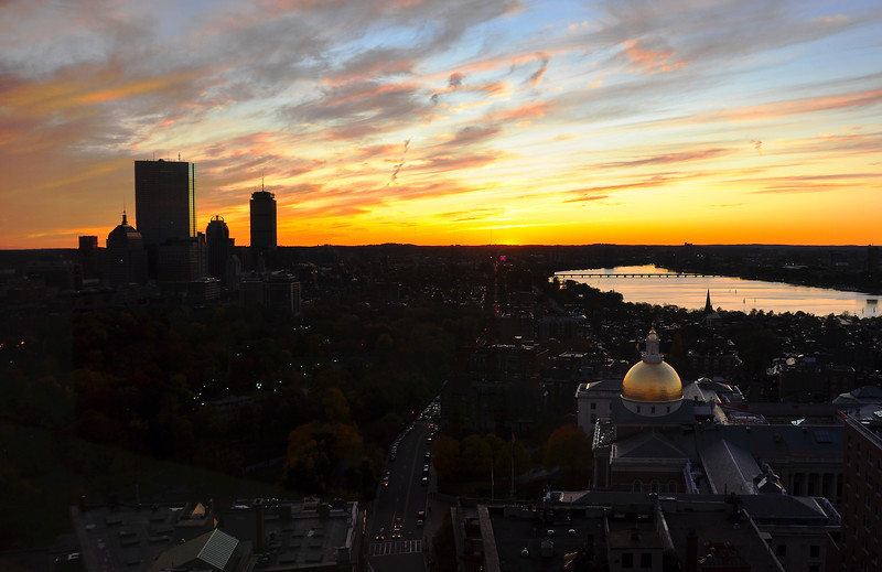 Boston and the Charles river