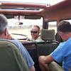 Rich, Bob, and Julian, Driving to Kaloboto Camp, Tsavo East National Park, Kenya