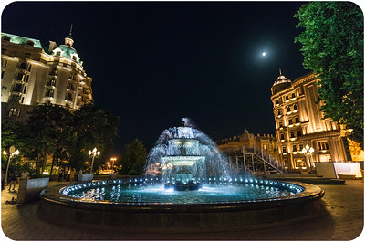 Governor's Garden (Left Four Seasons Hotel, Right - H. Aliyev's Fund)