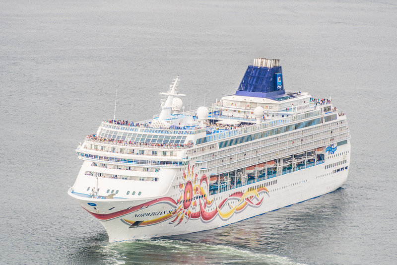 Norwegian Sun Cruise ship departing for Alaska from Vancouver