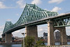 Jacques Cartier Bridge, across the St. Lawrence, Montreal.<br /> <br /> September 2008