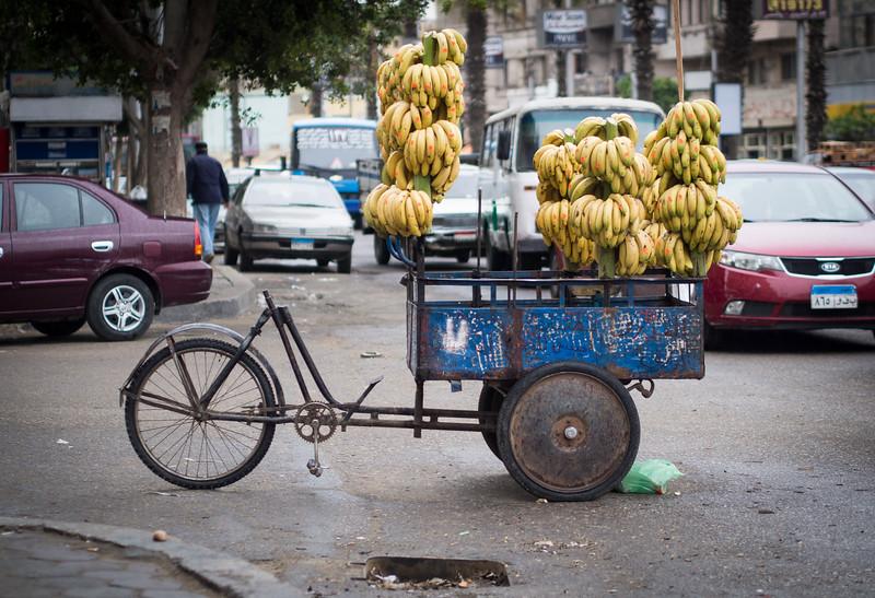 Banana cart in Heliopolis   Cairo