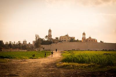landscape Nile Delta | Monastery