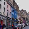 colorful facades brighten a gray city