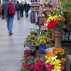 fresh flowers for sale on Las Ramblas
