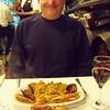 paella, a 1/2 roast chicken and wine