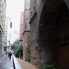 exploring the remains of the Roman walls