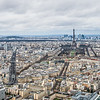The view of Paris from Montparnasse Tower