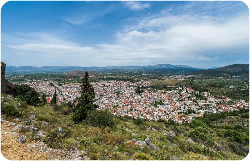View of Nafplion from Palamidi Fortress
