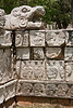 The tzompantli or Skull Platform at Chichen Itza . <br /> July 13, 2011.