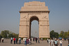 The India Gate is the national monument of India. Situated in the heart of New Delhi, it was designed by Sir Edwin Lutvens. Built in 1931, the monument was inspired by the Arc de Triomphe in Paris. Originally known as the All India War Memorial, it commemorates the 90,000 soldiers of the British Inida Army who lost their lives in WWI and the Third Anglo-Afghan War. It is composed of red and pale sandstone and granite.<br /> March 10, 2013.
