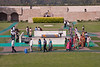 Raj Ghat is a memorial to Mahatma Gandhi that marks the spot of his cremation. Mohandas Karamchand Gandhi (2 October 1869 – 30 January 1948), commonly known as Mahatma Gandhi, was the preeminent leader of Indian nationalism in British-ruled Inida. On 30 January 1948, Gandhi was shot while he was walking to a platform from which he was to address a prayer meeting. The assassin was a Hindu nationalist with links to the extremist Hindu Mahasabha, who held Gandhi guilty of favoring Pakistan and who strongly opposed the doctrine of nonviolence. <br /> March 10, 2013.