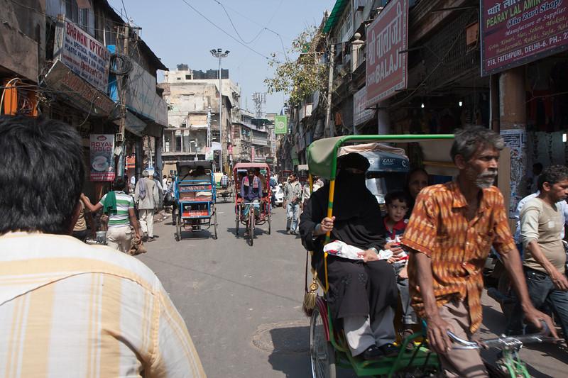 Rickshaw ride around Old Delhi.<br /> March 10, 2013